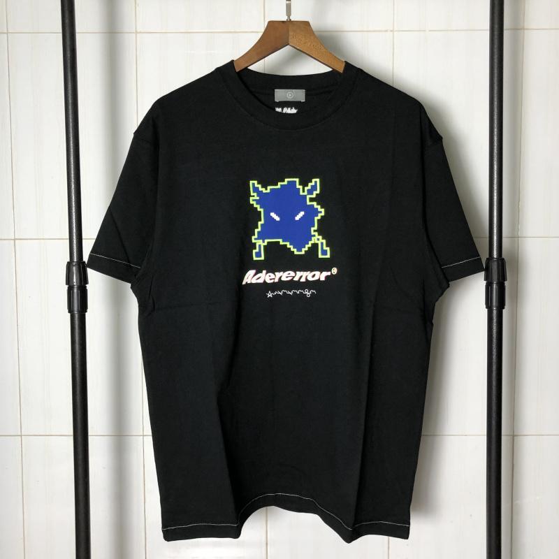 Streetwear монстр вышивки Adererror футболки Мужчины Женщины Пара любовников вскользь Сыпучие Адер Ошибка Футболка Топ тройники Harajuku