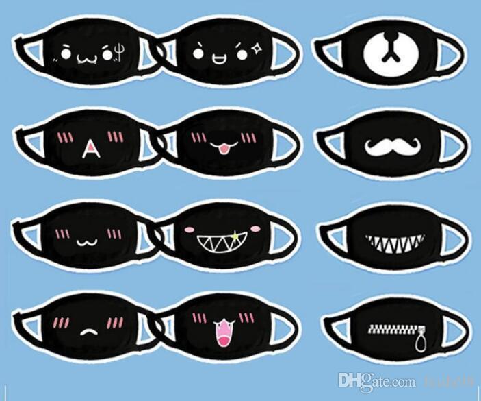 2020 nouveau coton antipoussière Bouche Visage Masque Anime Cartoon chanceux Ours Femmes Hommes moufles Visage Masques bouche GB887