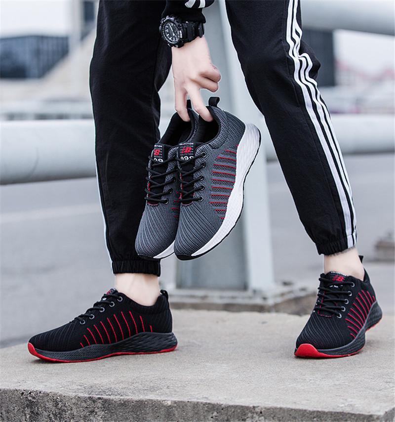 2020 رخيصة واحدة للرجال في الهواء الطلق لبس تنفس عارضة حذاء رياضة حذاء كلاسيكي شبكة خفيفة الوزن البرية مع صندوق