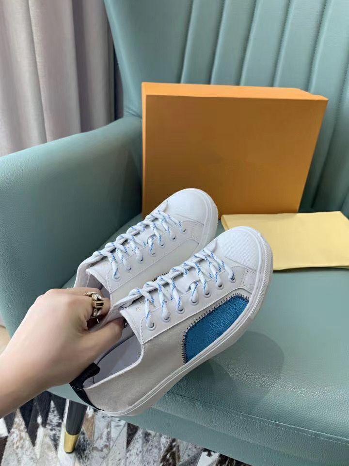 Louis Vuitton LV Damen Herren Freizeitschuhe Luxuxentwerfer Spikes Sneaker Mesh-Patchwork Matte Leder Chaussures Herren mkl02