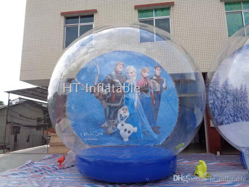 Freier Haus-Versand luftdurchblasen Aufblasbare Schnee-Kugel 3m Durchmesser Aufblasbare Schnee-Kugel aufblasbare Kugel zum Verkauf