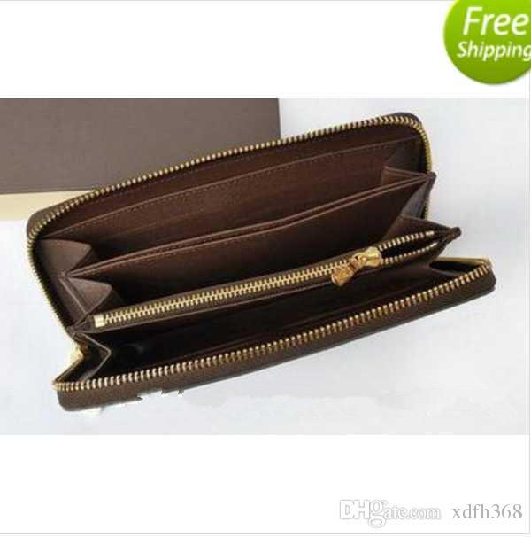 패션 롱 스타일 디자이너 클러치 여성 지갑 브랜드 캔버스 지갑 Bifold 신용 카드 소지자 지갑 Dustbag GUU