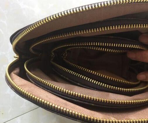 4pcs / set designer di donne borse cosmetici famoso sacchetto di corsa della borsa di trucco del progettista signore compone il sacchetto cluch borse organizzatore borsa da toilette marrone