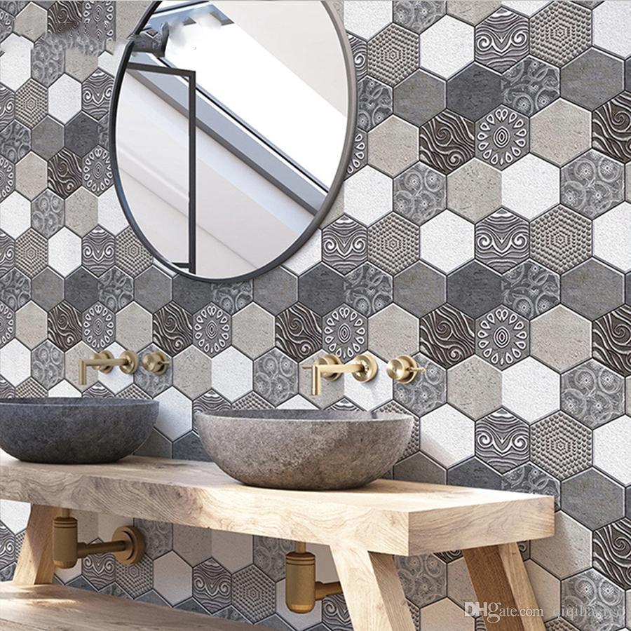 Self Adhesive Waterproof 3D PVC Wall Panels For Kitchen Backsplash Tiles  Brick Wallpaper For Bedroom Bathroom Walls Home Decor Phone Wallpapers  Photo ...