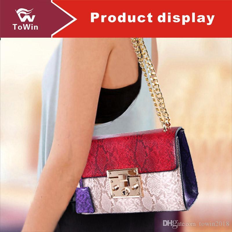 Classic Tote Luxury Women Chain Style Handbag Quality PU Leather Flap Bag Designer Sling Bag Wallet Serpentine Single Shoulder Bags Tote