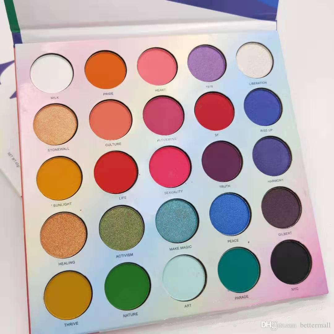 Larga-duraderos 25 colores sombra de ojos cosméticos mate shimmer ojo presionado polle paleta fácil de usar DHL gratis