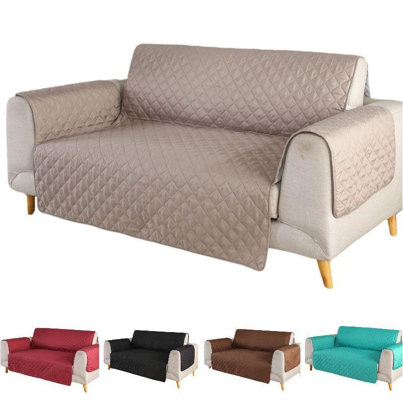 Compre Envio Gratis Cubierta De Sofa De Color Solido Lavable Extraible Toalla Reposabrazos Sofa Fundas Fundas Para Sofa Perro Mascotas 1 2 3