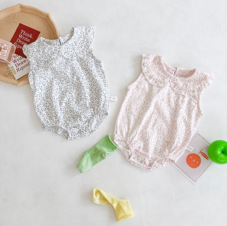 2020 Corea del estilo de los bebés imprimió el mameluco de verano para niños pequeños para niños mono 0-2YEARS