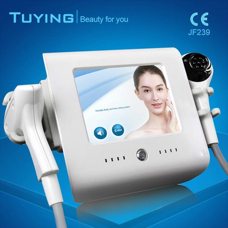 2 em 1 portátil Home Use High Intensity Focused Ultrasound Vacuum RF THERMOLIFT máquina de refrigeração para pele aperto corpo emagrecimento