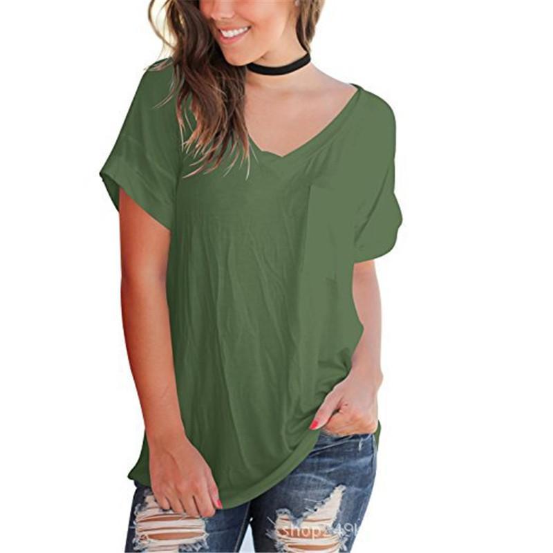 Womens Solid Color Designer T-shirt causales Modal T-shirt des femmes en vrac court T dames ras du cou de base Chemises