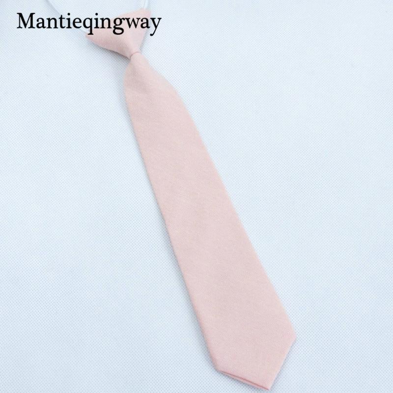 Mantieqingway enfants Ties Casual rose Cravate Skinny coton cravate pour les garçons filles solides Cravate pourpre Gravata Accessoires