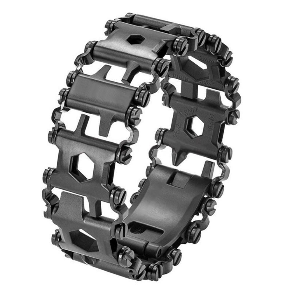 Dreambell Men Outdoor Spliced Bracelet Multifunctional Wearing Screwdriver Tool Hand Chain Field Survival Bracelet C19021501