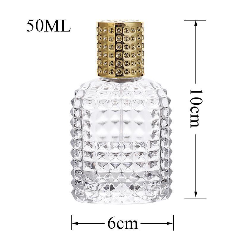 Bottiglia di vetro con spray vuote con bottiglie riutilizzabili atomizzatore 30ml 50ml Ananas portatile di profumo di vetro bottiglia di vetro dello spruzzo