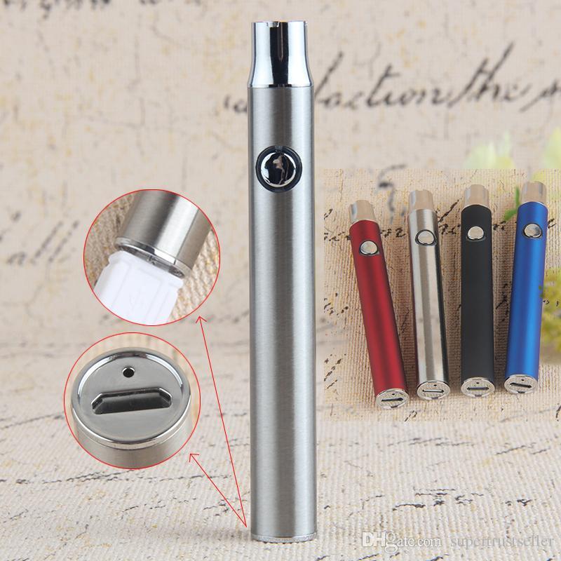 380mAh Max Pré-aqueça o Battery 510 Tópico Voltage Variable carga inferior com USB Vape Pen bateria para Thick óleo de cerâmica cartuchos Vape