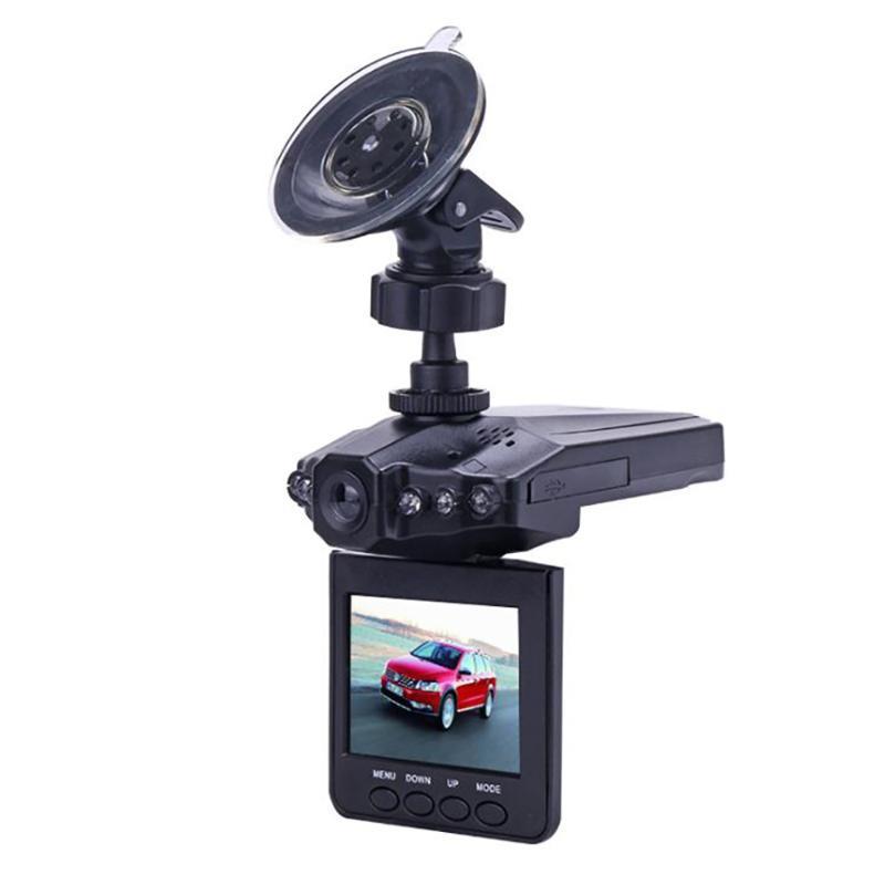 1080P 자동차 DVR 자동차 카메라 2.4 인치 평면 머리 모양 풀 HD 비디오 레코더 적외선 나이트 비전 270도 회전 루프 비디오