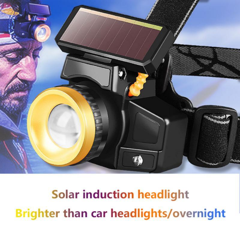 Flood Light Waving Induction Headlamp Rechargeable Lithium LED COB Glare Fishing Lamp Headlight Head Torch Lantern