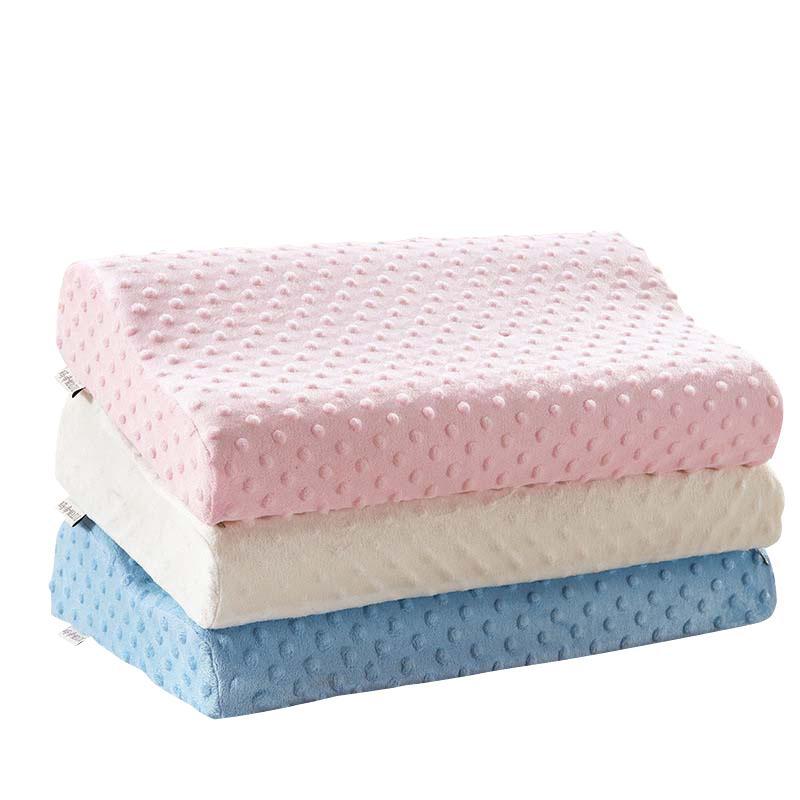Almohada para dormir sofá de espuma de memoria almohada de color sólido súper blando Ortopédica almohada para el cuello BE47001 T200603