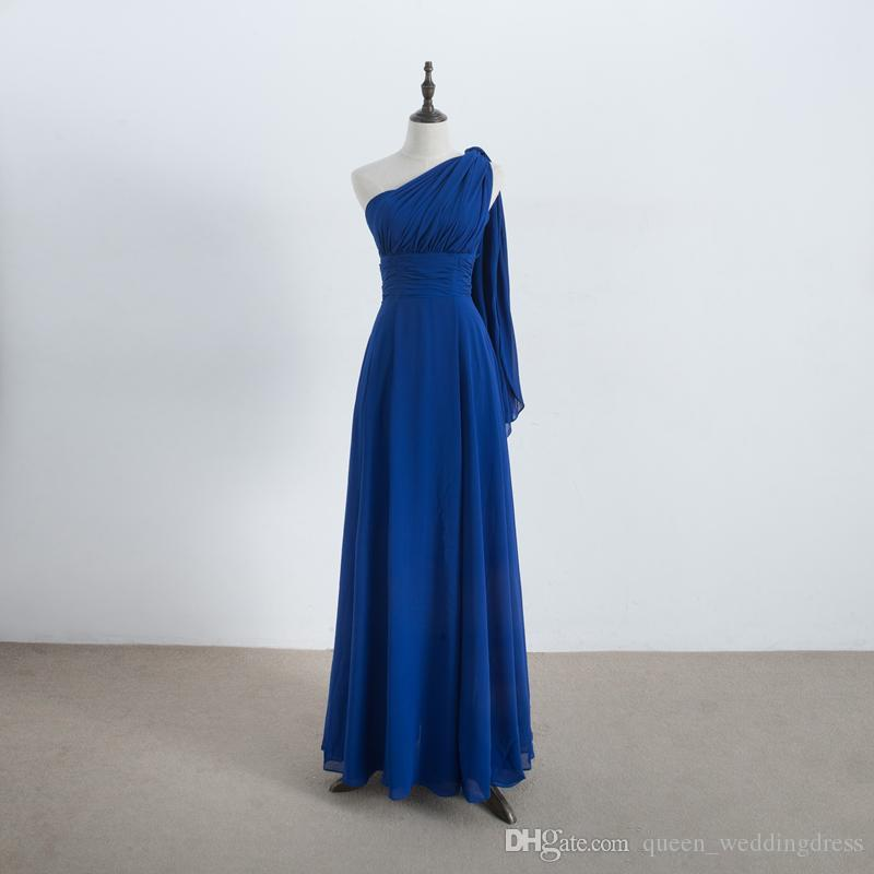 Long Chiffon Convertible Bridesmaid Dress Lace Up Royal Blue Wedding Bridesmaid Gowns For Party 100% Real Pictures