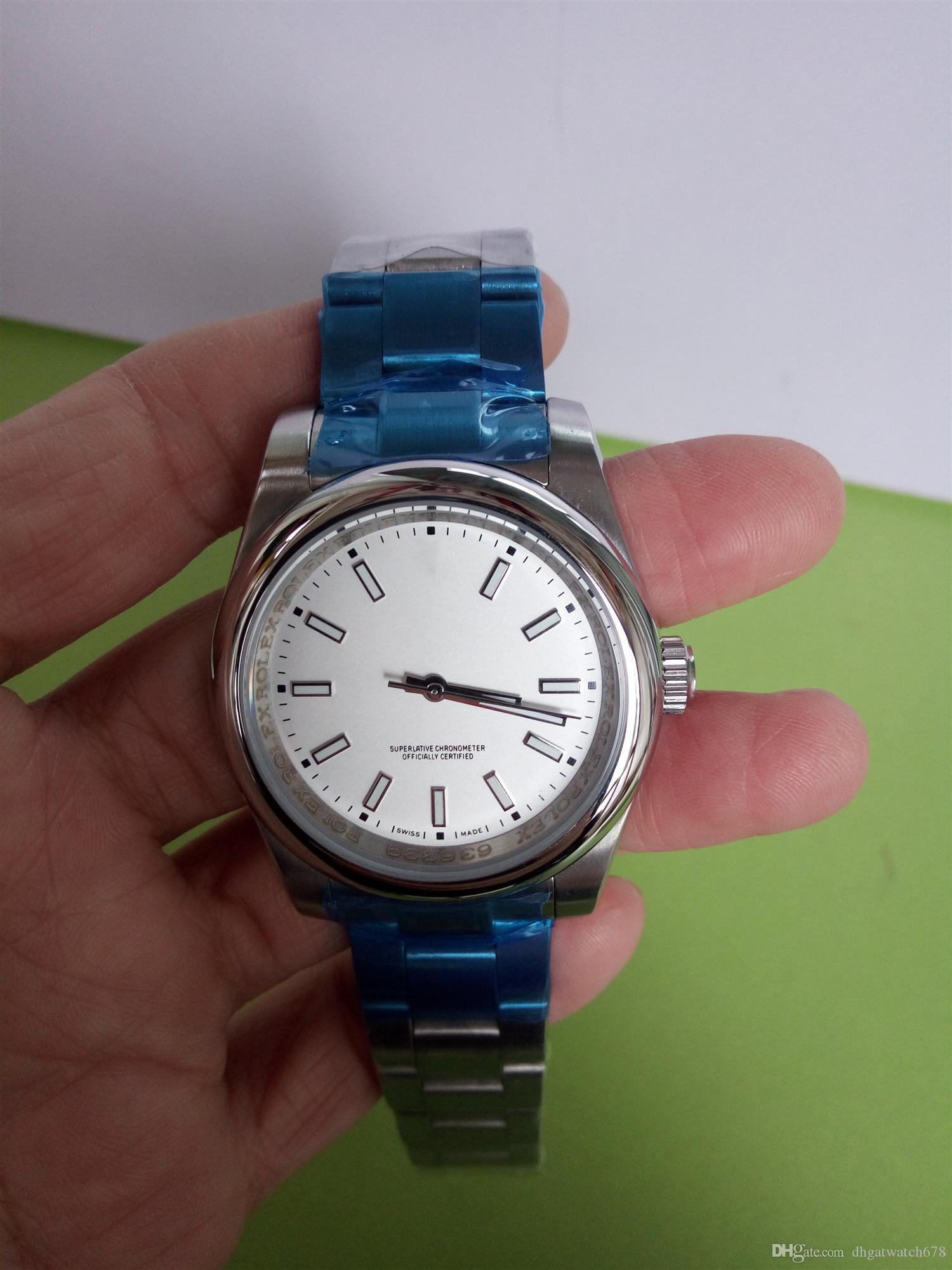 Luxuxqualitäts Luxuxarmbanduhren Sapphire Perpetual New Datum Stahl gewölbte 114300 39mm automatische mechanische Mens-Uhruhrmanmannuhr