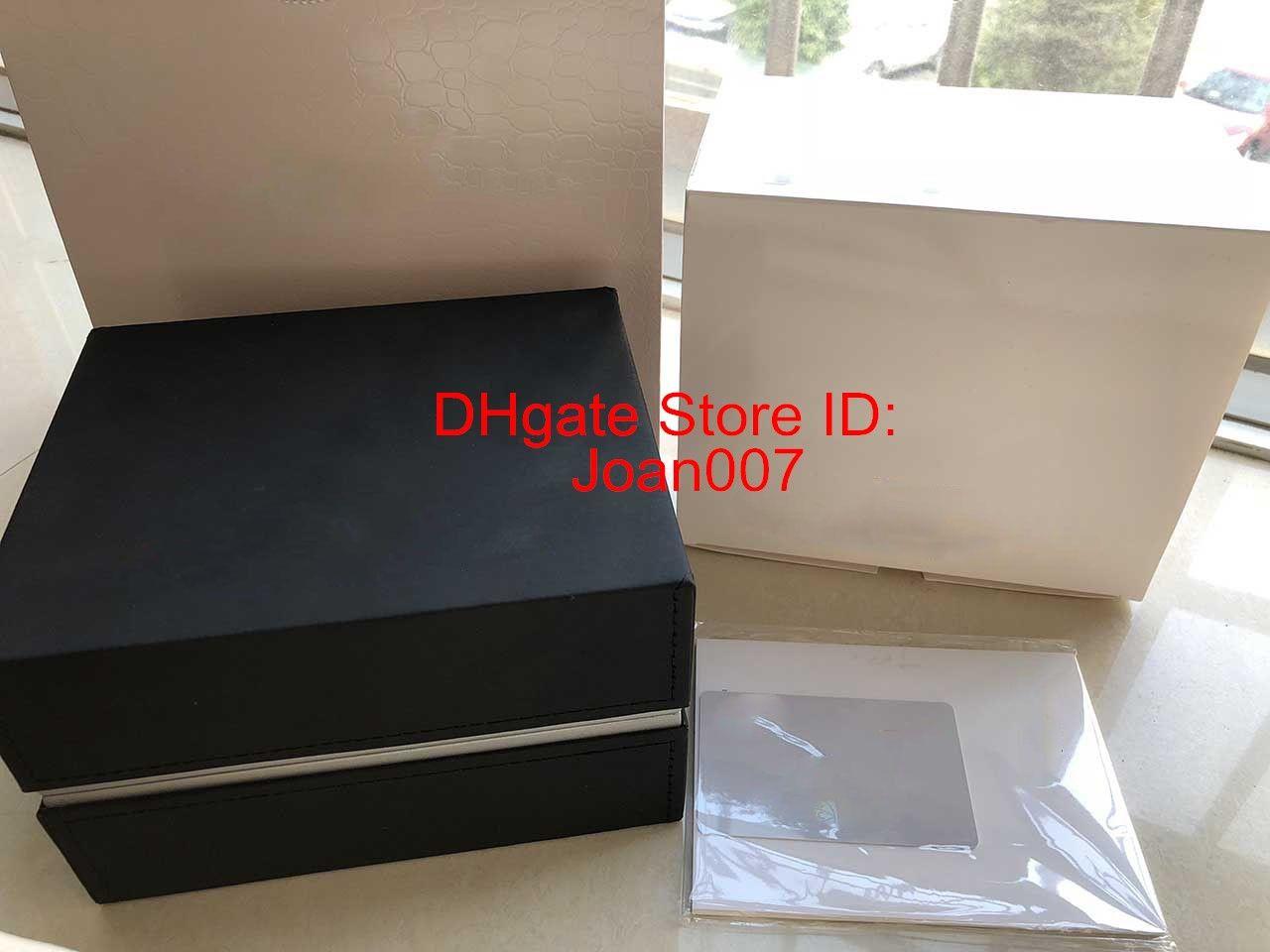 Boîte noire meilleure qualité boîte originale Montres Femme Homme Boîtes Hommes Montre-bracelet boîte avec des certificats pour montres IWC Boîtes
