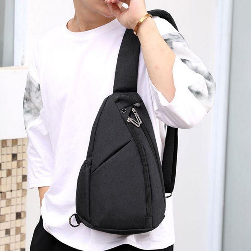 Neue Unisex Brusttaschen Casual Headset Geldbörse Nylon Hüfttaschen Umhängetasche Teenager Casual Einfach
