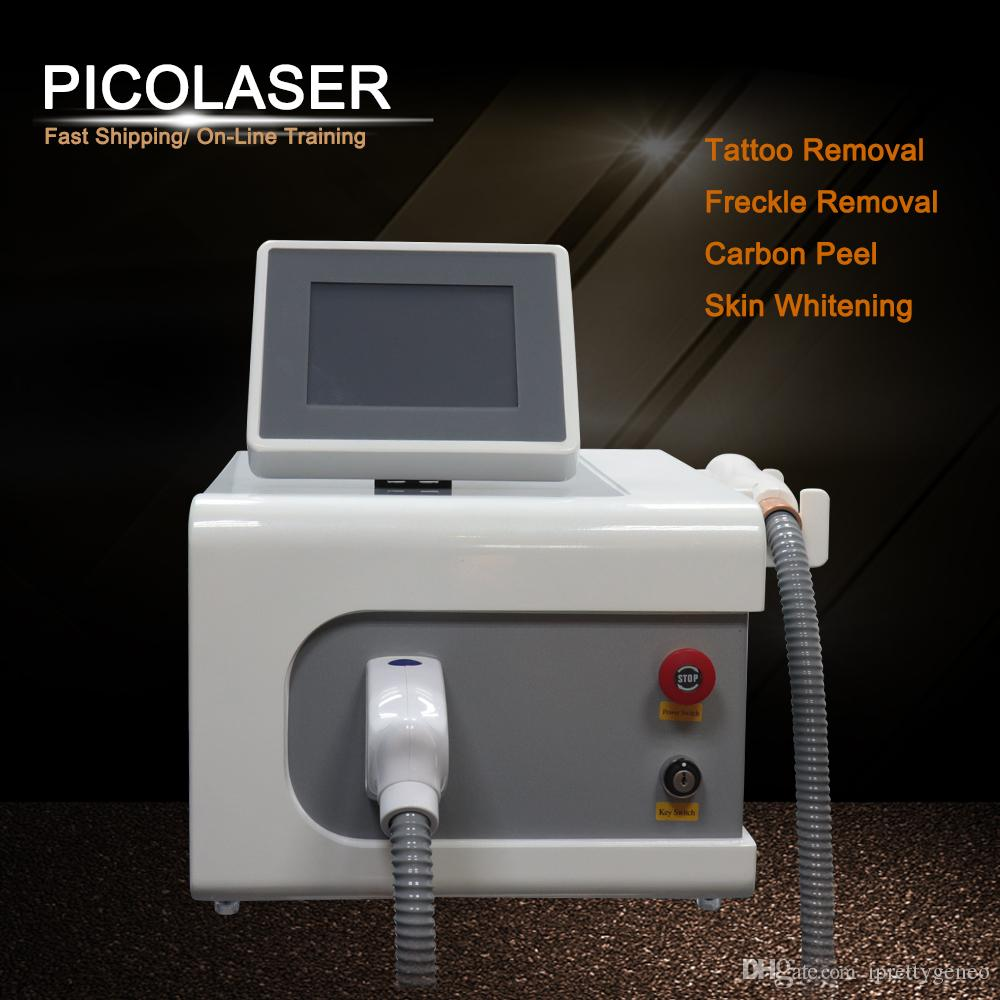 Nouveau Portable PicoSecond Laser Tatouage Machine Yag Laser Spot Spot Mole Suppression Pico Therapy Therapy ACNE Remover Equipement de beauté