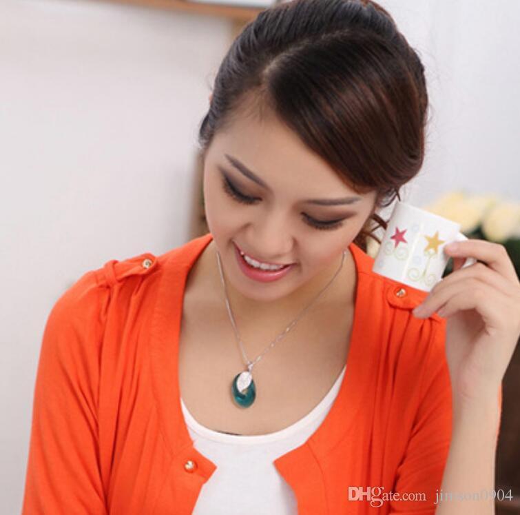 Çin'de yapılan moda takı Kadın Özgünlük Süsler Kullanarak Swarovski Elemental Kristal Kolye kişilik High-end Kolye toptan