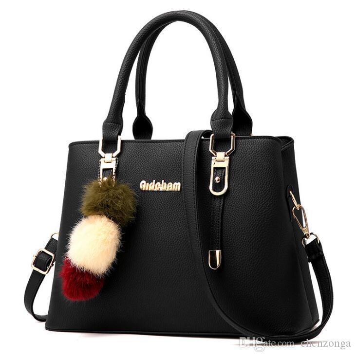 Tasarım çanta yeni basit yüksek kaliteli bayanlar çanta Kore versiyonu omuz kare moda çanta