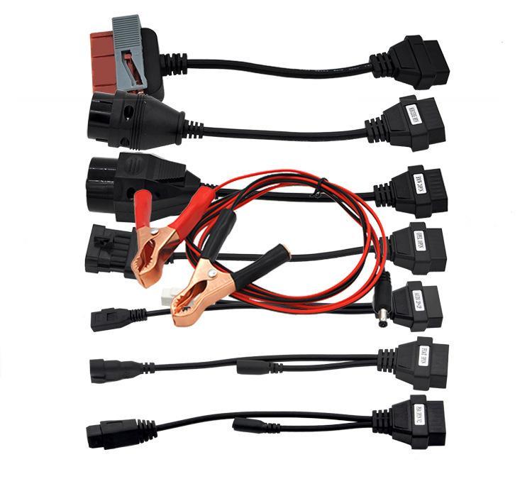 8 Dans 1 OBD OBD2 Extension ligne pour Delphi DS150 / Delphi Ds150eTcs Dp Connexion Ligne 2019 Câbles et connecteurs de diagnostic voiture