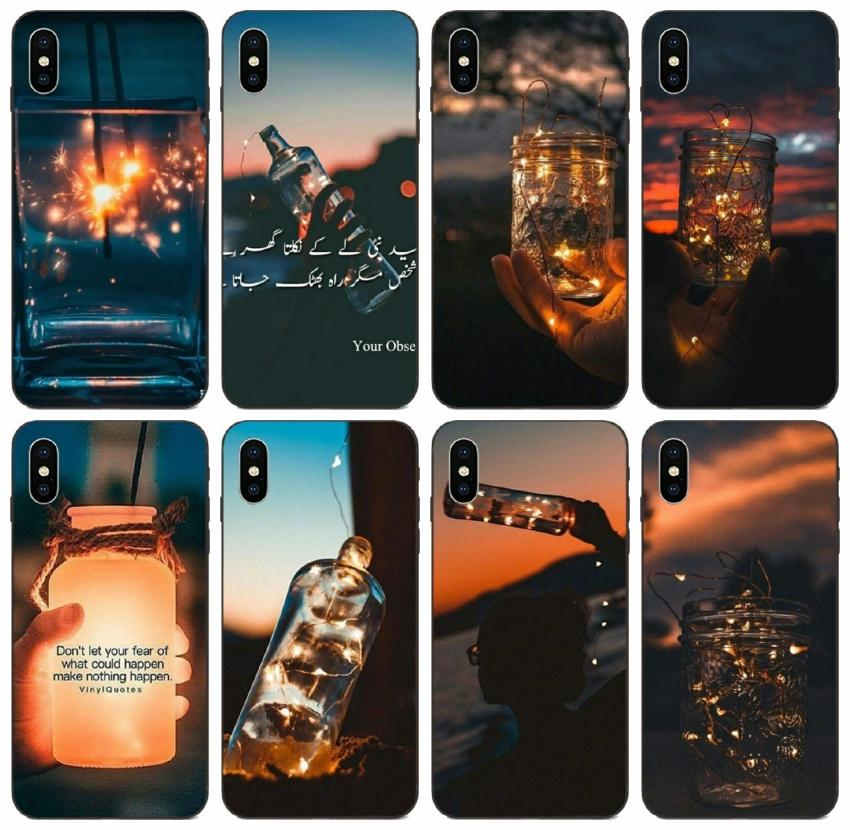 [TongTrade] Star Light Drift Bottle Case For iPhone 11 Pro Max X XS 8s 7s 6s 5s Plus Galaxy J7 Huawei Mate 20 Lite LG V20 High Quality Case