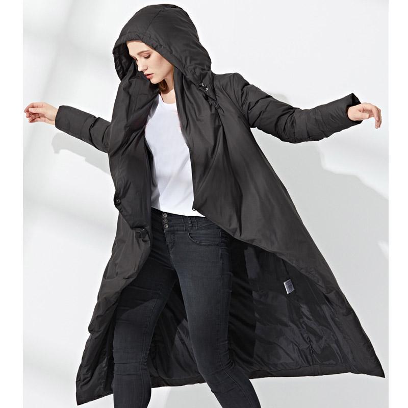 2018 New Haute Qualité Hiver Jackt Femmes Femme Veste longue 90% de canard blanc Manteau de duvet chaud épais manteau long vers le bas Parka Femmes