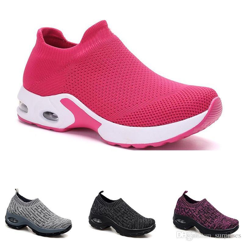 2020 neue arrivel Schuhe für Frauen schwarz weiß rosa Bule grau oreo sports Turnschuhe Trainer 35-42 große Größe Sieben laufen