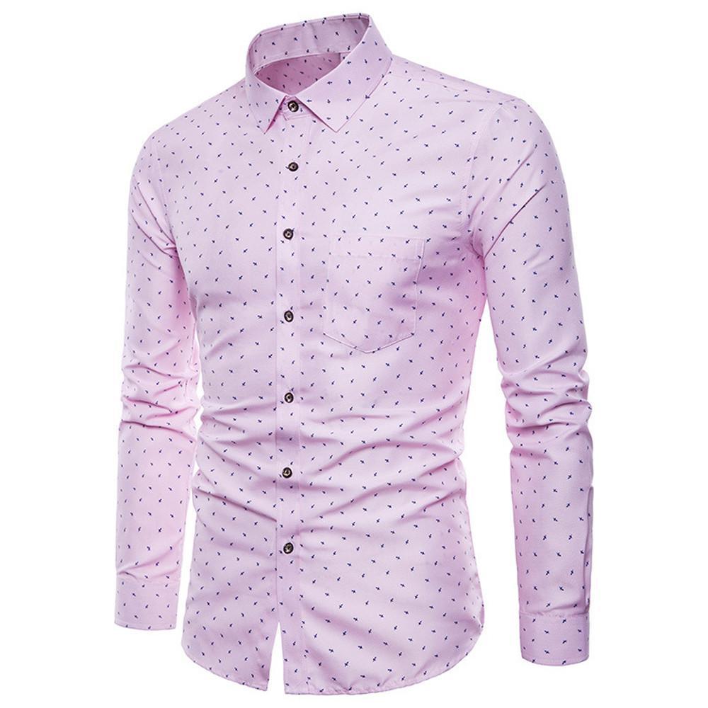 Men Tops Shirt Summer Formal 2019 Tops Party Shirt Turn down collar Stylish