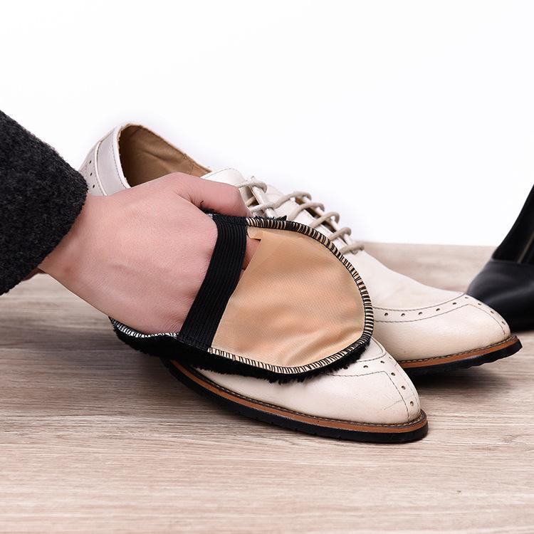 1Pcs Spazzola per la cura delle scarpe Morbide imitazione di lana Guanti per scarpe da peluche Pulisci le scarpe Mitt Scamosciate Scarpe pulisci Colore casuale