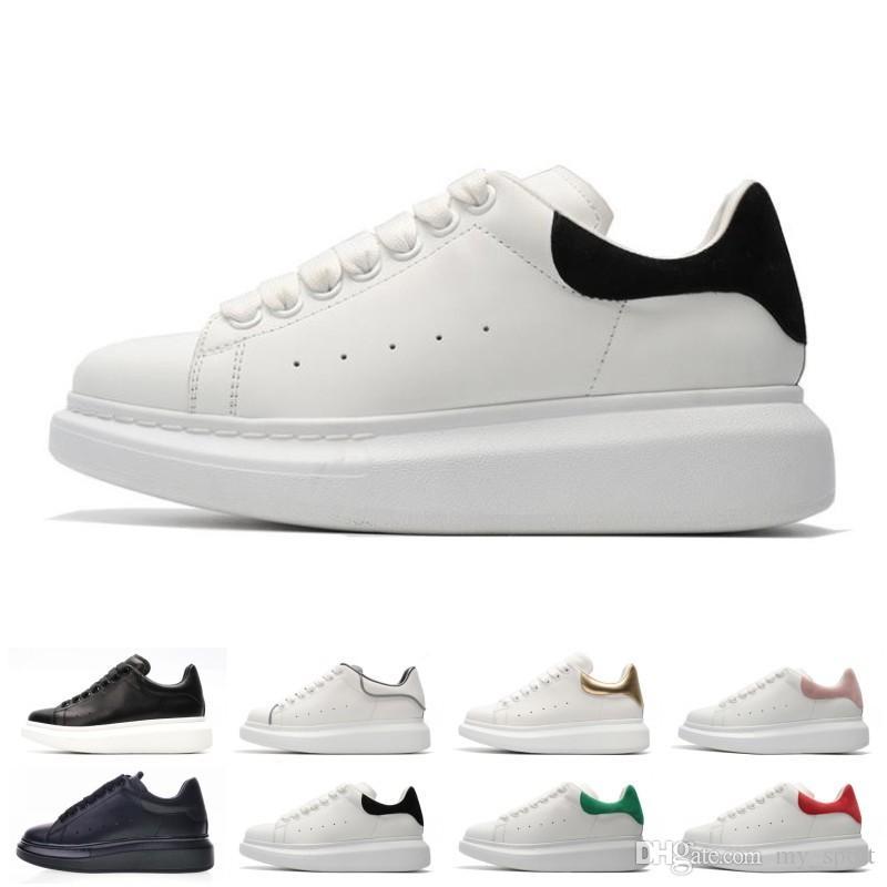 Chaussures Designer Hommes en gros cuir blanc 3M casual réfléchissant pour les femmes fille or noir rouge mode baskets sport confortable appartement
