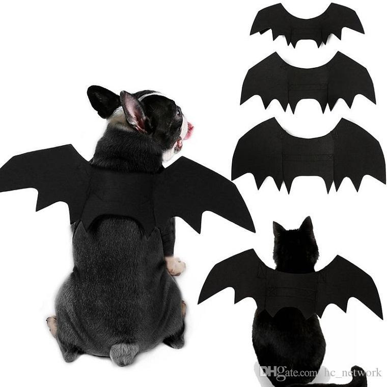 أحدث هالوين الحيوانات الأليفة أجنحة الخفافيش الصغيرة القط كلب كبير بات زي الملابس مستلزمات الحيوانات الأليفة باتمان تأثيري الملابس الكلب