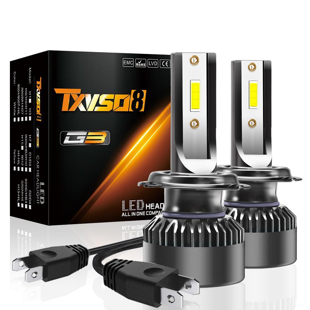 Mini Car 2PCS H7 LED Headlight Bulbs H1 LED H4 H11 15000LM fari Kit 9005 HB3 9006 HB4 9012 Auto 12V 24V Lampade