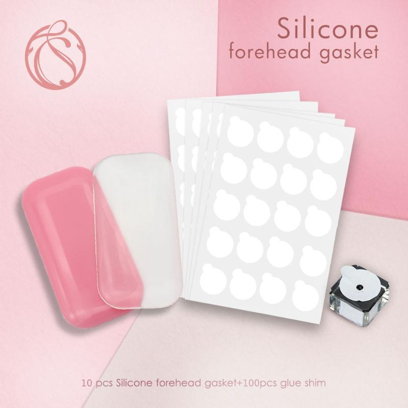 10pc Lash Stickers Pad Silicone Graft Eyelashes Extension Tray Stand Pallet Pad Forehead Sticker Silicone Transparent Holder