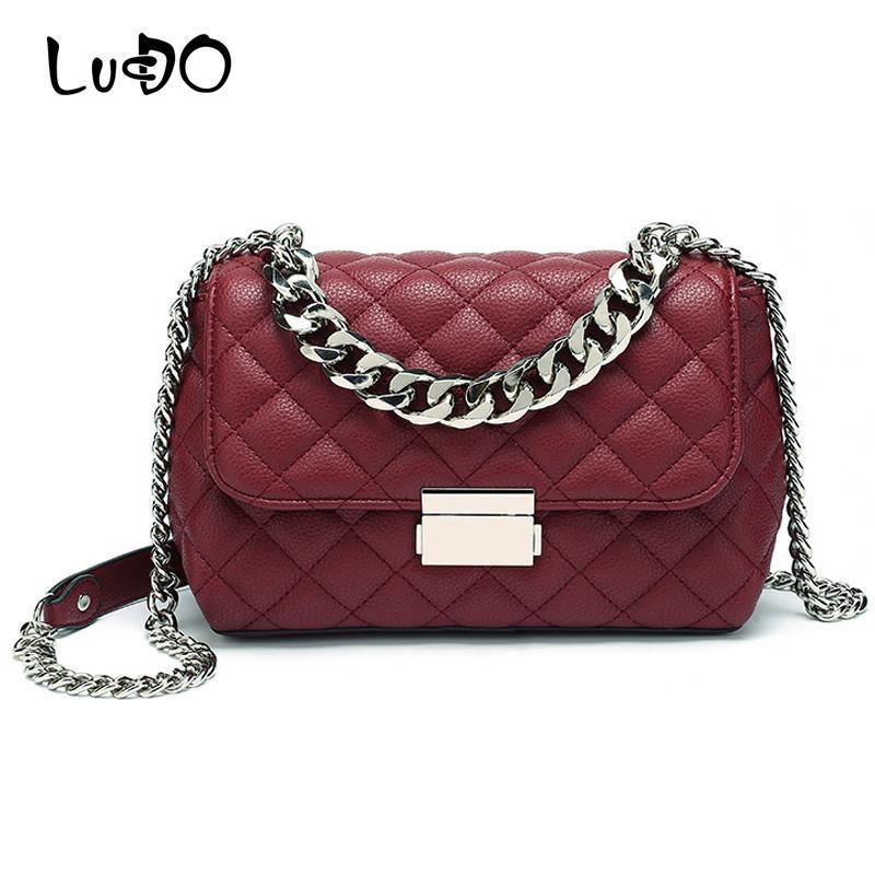 Сумки цепи сумки мессенджер мини дизайнер женские решетки плечо алмаз роскошный Lucdo Crossbody сумка женские сумки Bolsas Sac Xahiu