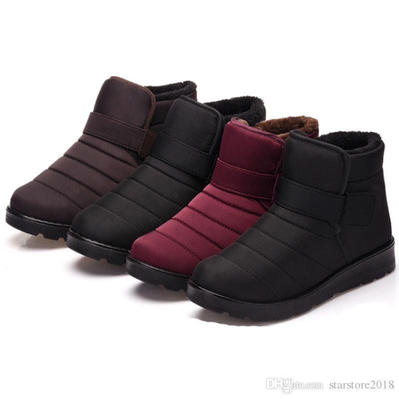 2019 Inverno rilasciato intera vendita caricamenti del sistema caldi della neve uomini e donne, coppie più scarpe di cotone soffici impermeabili viola taglia il trasporto libero 35-46