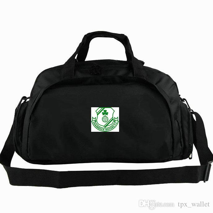Shamrock mochila Rovers club tote Hoops Tallaght Mochila de futebol Exercício bagagem Futebol sport shoulder duffle Sling pack ao ar livre