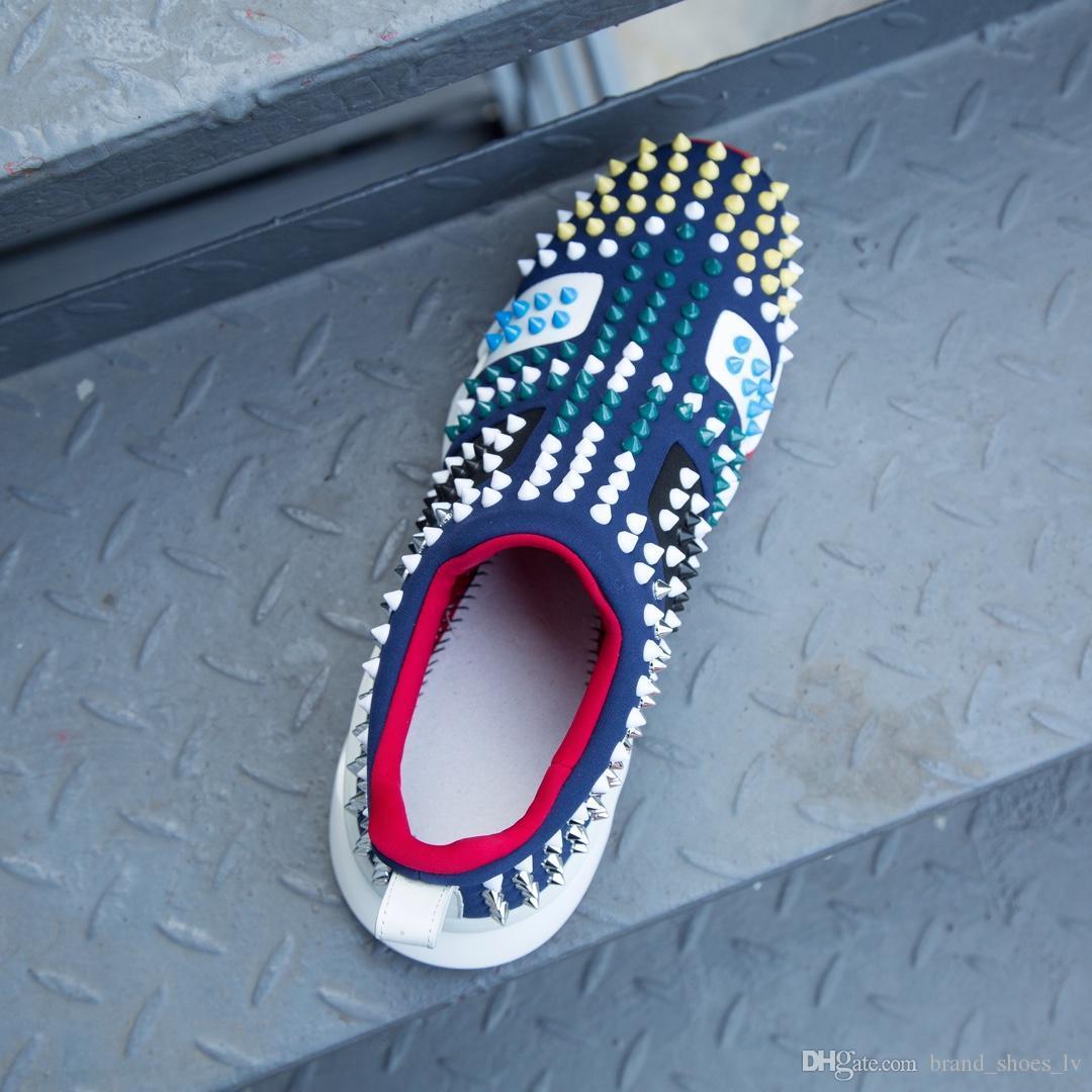 New Design New Fashion Uomo luxury Designer scarpe da uomo con alta qualità in vera pelle oro rosso blu strisce scarpe da ginnastica rosse asso bianco