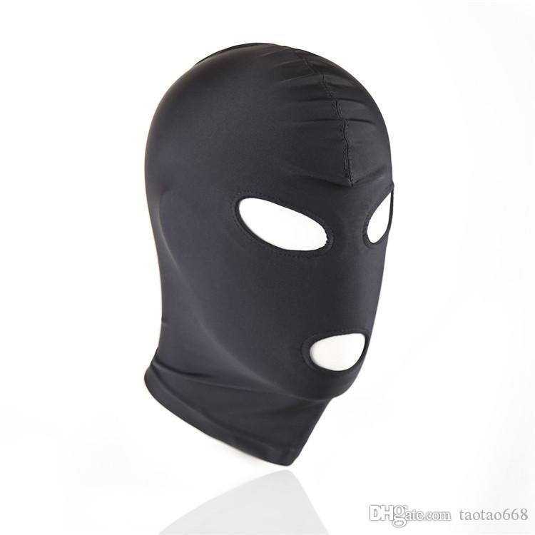 New Arrival Adult games Fetish Hood Mask BDSM Bondage Black Spandex Mask Sex Toys For Couples 6 Specifications To Choose X567