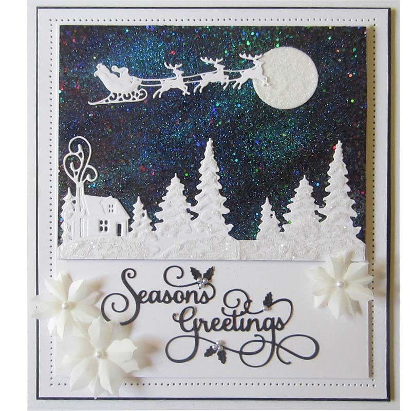 شجرة عيد الميلاد قطع يموت الإستنسل لDIY سكرابوكينغ ورقة ورقة كرافت وفاة النقش قالب
