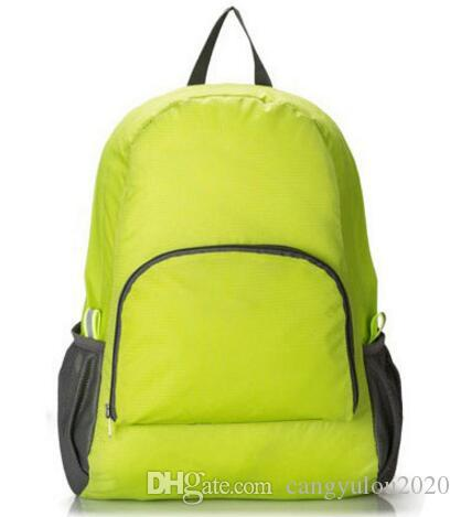 Hot sale Casual Fashion Green Men Multifunctional Travel Bags Foldable Shoulder Bags Women's Shoulder Bags Outdoor Sports Backpack for women