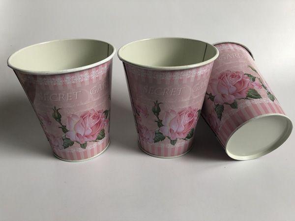 도매 D11XH12.5cm 웨딩 장식 금속 꽃병은 결혼식 장식 테이블 센터 피스를위한 꽃 철 분홍색 꽃병을 장식