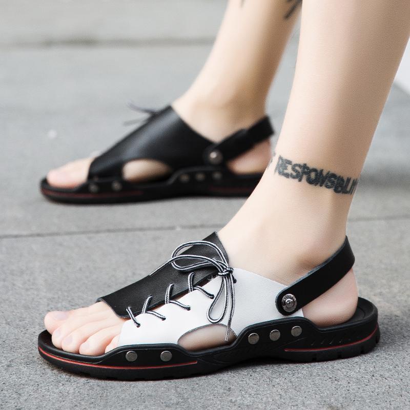 Sandálias 2021 Homens Sapatos de Verão Mens Outdoor Casual Respirável Comfort Slip em Plus Size Aberto Sandalias Hombre