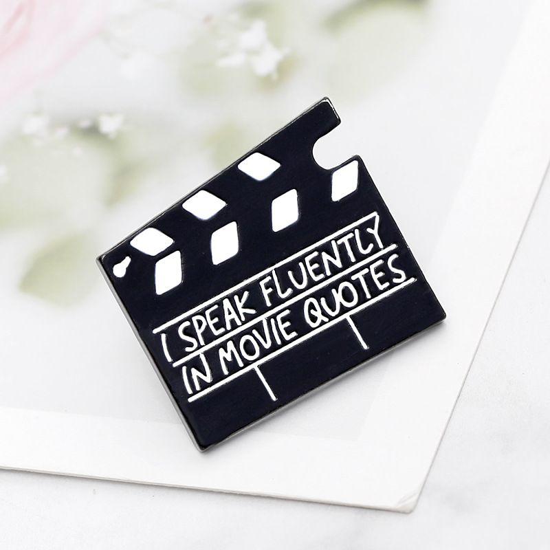 I speak fluently in movie quotes enamel pin badge