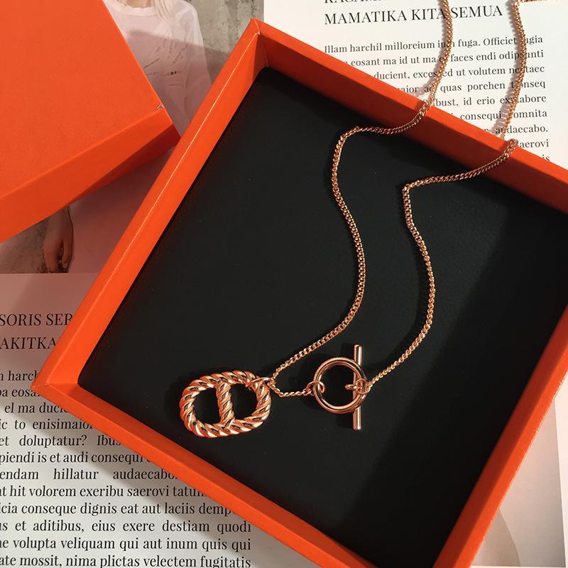 ювелирные изделия способа автономного типа конструкции Elegant-Style Smooth кабель Hyorhinis OT Их ключицы Ожерелье для женщин