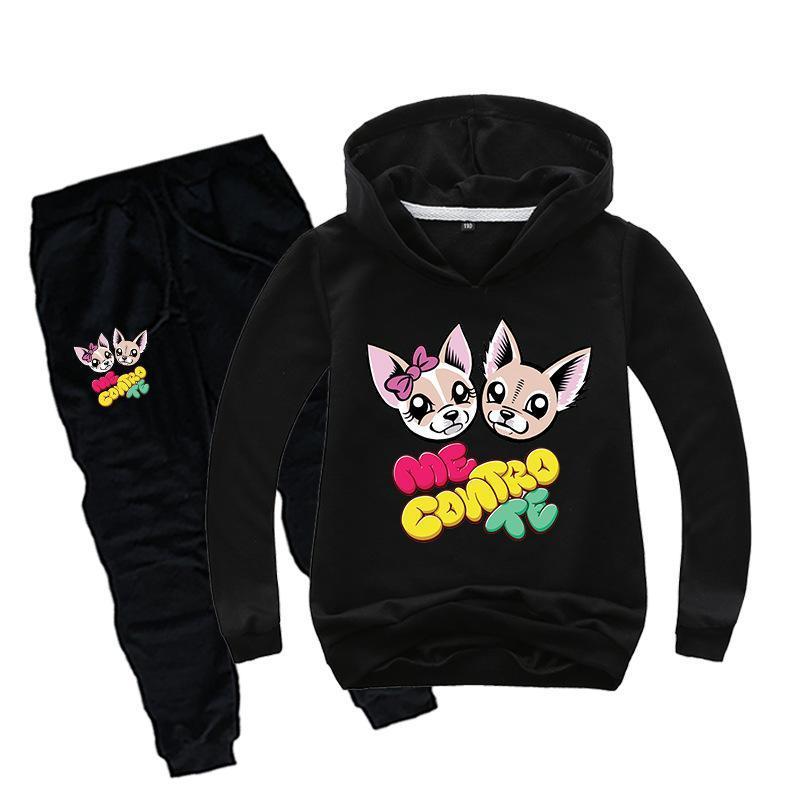 DLF 2-16Y lindos me Contro Te Sudaderas Pantalones 2pcs fija el juego de los bebés del sistema de la ropa de las muchachas adolescentes Deportes Niños Moda chándal